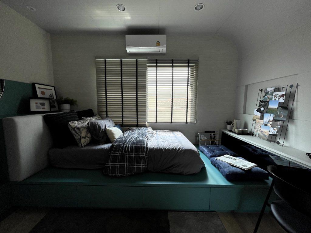 ตัวอย่างห้องนอนเล็ก บ้านหน้ากว้าง 5.2 เมตร Verve รามคำแหง - วงแหวน